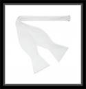 Frackschleife - Weiß - 100% Baumwolle - Selbstbinder