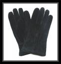 Handschuhe - 100% Veloursleder - Schwarz