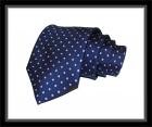 Krawatte - Blau mit pinken Punkten