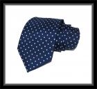 Krawatte - Blau mit weißen Punkten