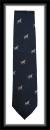 Krawatte mit Jagdmotiv - Marineblau/Springer Spaniel