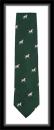Krawatte mit Jagdmotiv - Grün/Springer Spaniel