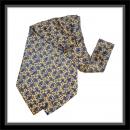 Krawattenschal - 100% Seide - Gelb mit blauem Paisley