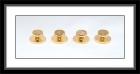 Hemdknöpfe - goldfarben/oben perforiertes Muster