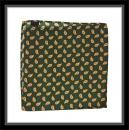Einstecktuch - 100% Seide - Grün mit Paisleyaugen