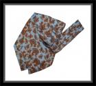 Krawattenschal - 100% Seide - Hellblau mit Paisleymuster