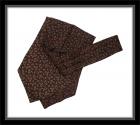 Krawattenschal - 100% Seide - Karminrot mit Paisleymuster