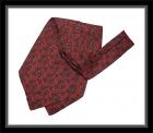 Krawattenschal - 100% Seide - Zinnoberrot mit Paisleymuster