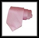 Krawatte - Rosa mit dunkelblauen Dots