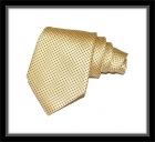Krawatte - Gelb mit dunkelblauen Dots