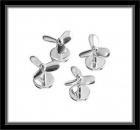 Hemdknöpfe - 925er Sterling Silber - Propeller