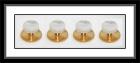 Hemdknöpfe - goldfarben/Perlmutt weiß