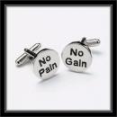 Manschettenknöpfe - No Pain No Gain