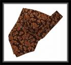 Krawattenschal - 100% Seide - Braun mit Paisleymuster