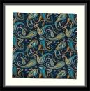 Einstecktuch - 100% Seide - Marineblau mit buntem Paisleymuster