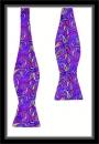 Schleife - Purple mit buntem Paisleymuster - Selbstbinder
