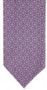 Krawattenschal - 100% Seide - gemustert Pink/Petrol